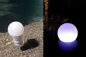 dosificador cloro luz led